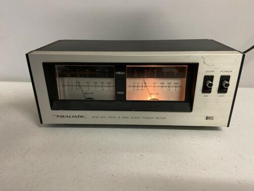Realistic APM-200 Peak & RMS Audio Power Meter - Tested / Working