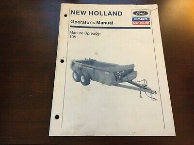 New Holland 195 Manure Spreader Operators Manual