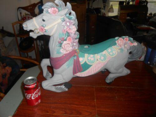 "Carousel Horse Figurine Large 21"" Ornate Decorative"