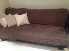 Brown sofa convertible to sofa bed Kellyville Ridge Blacktown Area Preview