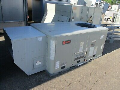 Trane Rooftop Unit With Power Exhaust Yhc047e3rma0300b1a1b0b000 C 4-ton Used