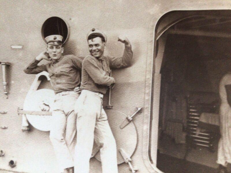 Identified Marines On USS Vermont, Near Mexico, Tampico Affair , 9/28/1914
