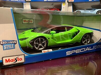 Maisto 1:18 Scale Special Edition Diecast Model - Lamborghini Centenario (Green) (18 Maisto Special Edition)
