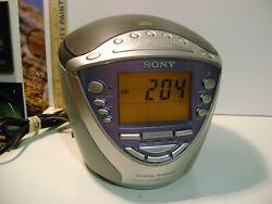 SONY DREAM MACHINE Alarm Clock Radio CD Player ICF-CD853v
