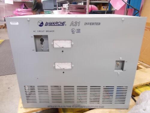 LA MARCHE A31-3K-48V-A6-24L DC TO AC INVERTER A-31 30 DAY WARRANTY