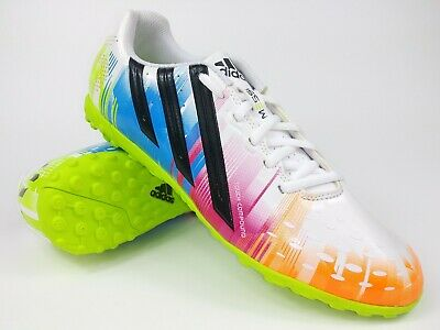 0836d2a99 Adidas Mens Rare ff x-ite (messi) D67200 White Blue Turf Soccer Shoes Size  10.5