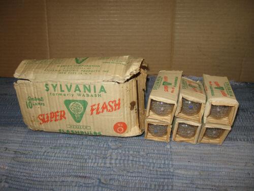 Vintage Wabash Sylvania SUPER FLASH No.0  Flashbulb - 6 bulbs selling as a lot