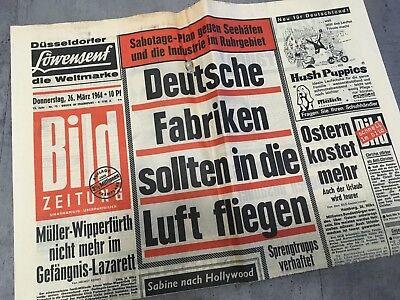 Bildzeitung 26. März 1964 BILD Zeitung 26.03.1964 * 54. 56. 57. 58. Geburtstag