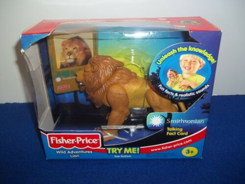 Fisher Price Wild Adventures Lion Smithsonian Realistic Animal Sounds Figure Toy