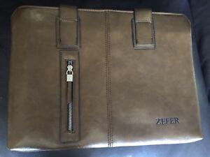 "ZEFER Genuine Leather Briefcase/Messenger Bag! ""MENS"" Brand New!"