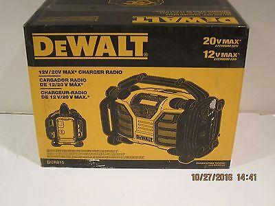 Dewalt Dcr015  Work Site 12Volt 20Volt Max Charger Radio 2016 Date F Ship Nisb
