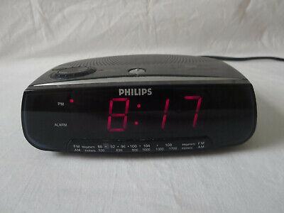 Philips AM-FM Alarm Clock Radio Model AJ3120/17 Sleep / Snooze Used
