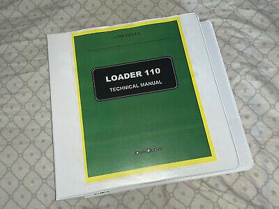 John Deere 110 Loader Backhoe Tractor Service Repair Manual Binder Tm1987 Book