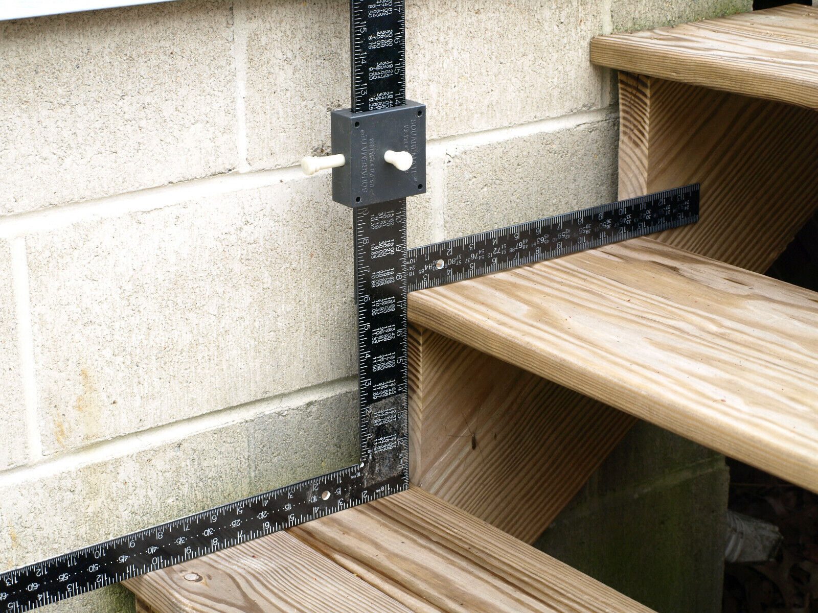 Multiple Framing Square Clamp Tool for Measuring and Marking