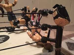 Wrestling Figures and Ring