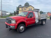 2005 FORD F-550 STAINLESS 4X4 DUMP TRUCK UTILITY BED CLEAN DIESEL W/ TUNNEL BOX