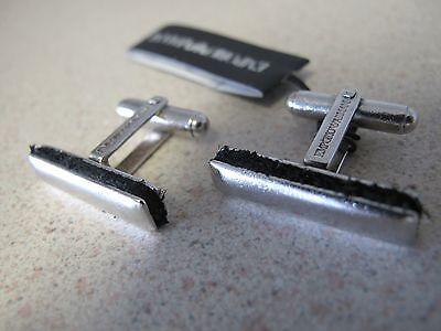 Emporio Armani Cufflinks Sterling Silver leather 925 -