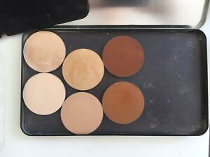 MUFE Metal Palette and 6 Powder Foundations