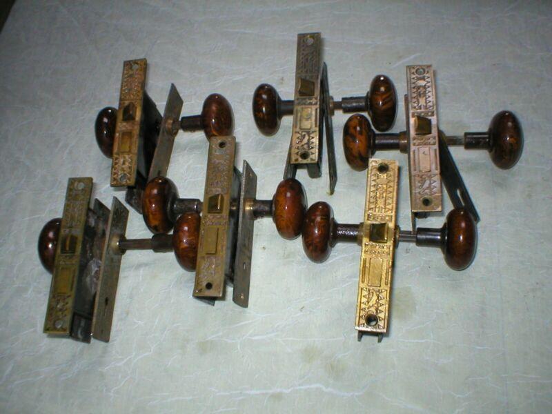 Antique  victorian door lock set