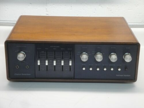 Vintage Harman Kardon Citation Seventeen 17 Preamplifier in WOOD CASE rare VGC !
