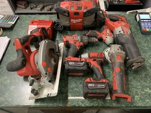 7pc Milwaukee 18v/12v Bundle