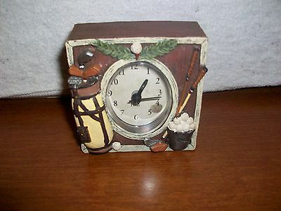 GOLF Theme Small Clock Square by FIGI  Battery operated