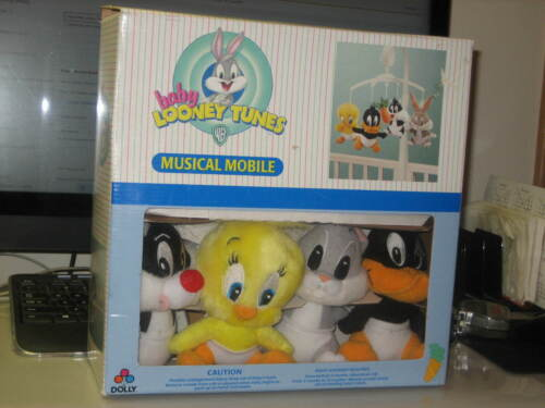 Dolly Baby Looney Tunes Musical Mobile Tweety Bugs Bunny Sylvester & Daffy