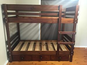 Bunkers 'Convert-a-Bunk' Bunk Bed + drawers Banksia Park Tea Tree Gully Area Preview