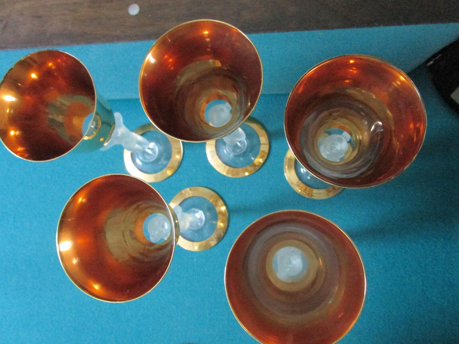 Bayal crystalware - 10 caryatid stemware glasses