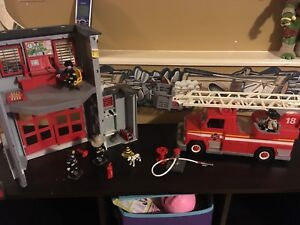 playmobil fire station set