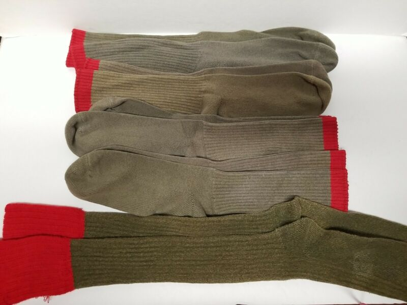 Lot of 5 Pairs BSA Boy Scout Red Top Dress Uniform Parade Socks Official