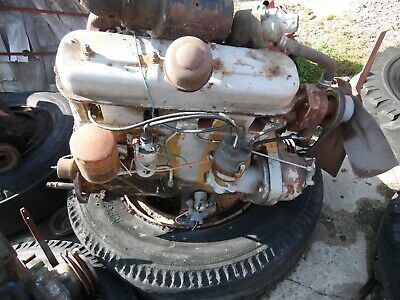 Allis Chalmers D 17 Gas Tractor Engine Runs Good Out Of A Gleaner E 3 Combine