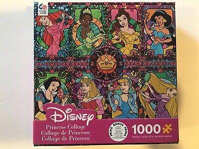 Disney Princess Collage 1000 Piece Puzzle Belle, Snow White, Ariel -Bonus Poster