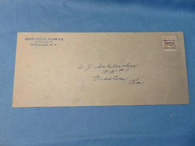 Vtg John Deere Plow Co. Tractor Disk Harrow Instructions Envelope 1 12 Stamp