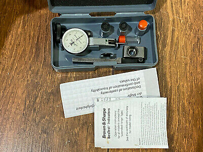 Brown Sharpe Bestest Dial Indicator 599-7032-6 .0001 .008 Contact Points