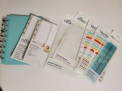Martha Stewart Discbound Jr Notebook Bundle Wfiller Paper Checklist Pockets