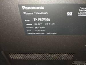 Panasonic Plasma TH-P50v10a, faulty