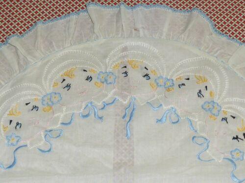 Antique Victorian BABY Pillow Sham-Pillowcase Embroidered Art Deco -Vintage