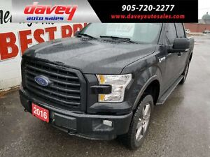 2016 Ford F-150 XLT 4X4, CREW CAB, TOW PACKAGE