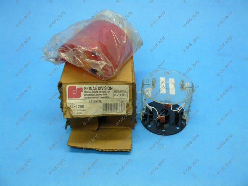 Federal Signal LSL-120R Litestack Light Module 120 VAC Red New