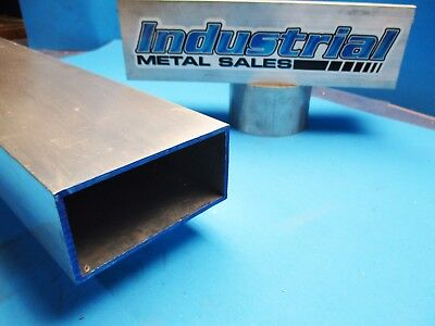 6063 Aluminum Rectangle Tube 2 X 4 X 72 X 18 Wall--2 X 4 X .125 Tube
