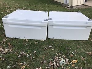 "LG Washer and Dryer 14"" High Pedestal Set. WDP3W"