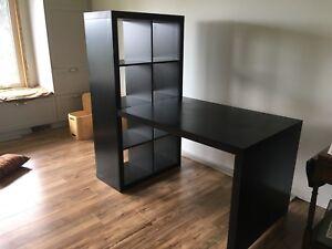 IKEA bookcase and desk