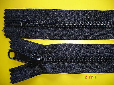 2 Stück Reißverschluß schwarz 14cm,nicht zum aushängen Y19