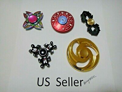 Wholesale Lot 5x Fidget Hand Spinner rainbow Colorful Metal Finger Toy #16 USA - Toy Wholesalers
