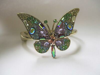 AUTHENTIC Betsy Johnson Rainbow Crystal Butterfly Cuff -