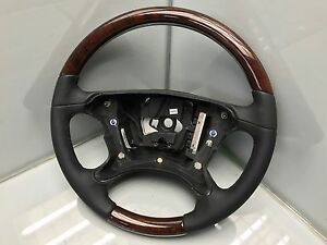 MERCEDES CLS W219 E W211 LENKRAD Leder schwarz Holz 2194603903