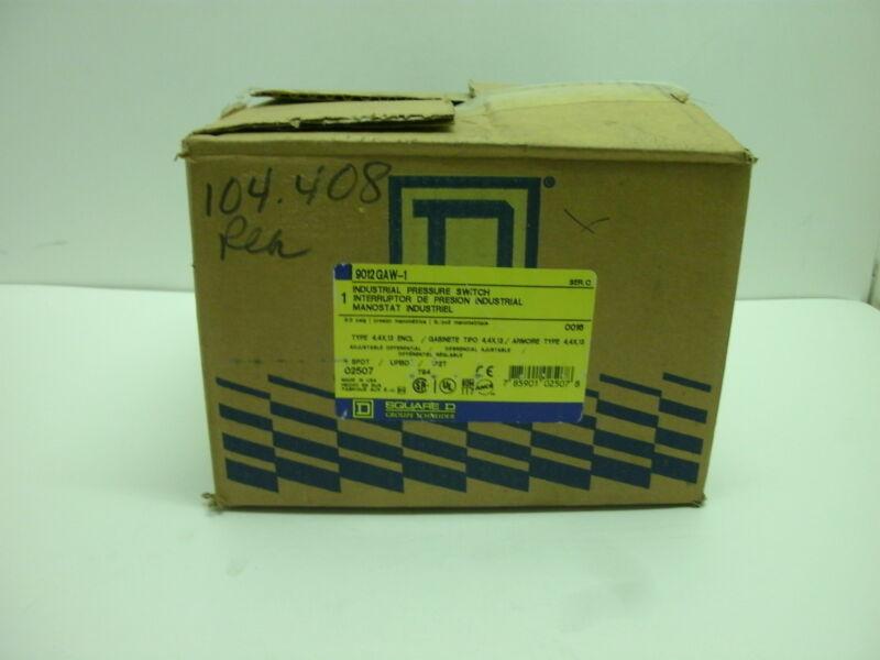 SQUARE D 9012-GAW1 INDUSTRIAL PRESSURE SWITCH SER C .2-10 PSIG .01-69 BAR NIB