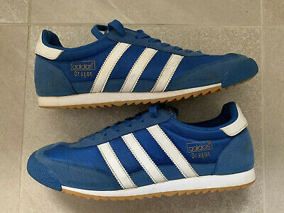 ADIDAS DRAGON BLUE AND WHITE SIZE 10 **GREAT CONDITION**