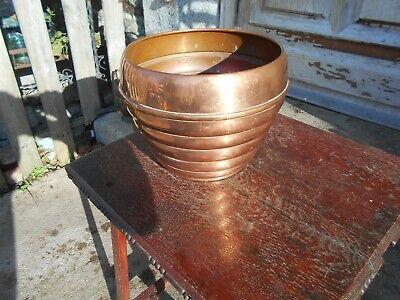 Vintage French copper plant pot/jardiniere  not Villedieu  18 cm